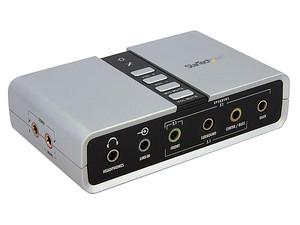 Tarjeta Externa de Sonido StarTech de 7.1, USB.