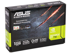 Tarjeta de Video NVIDIA GeForce GT 710 ASUS, 1GB GDDR5, 1xHDMI, 1xDVI, 1xVGA, PCI Express 2.0.