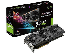 Tarjeta de Video NVIDIA ASUS GeForce GTX 1060 STRIX GAMING OC, 6GB GDDR5, 2xHDMI, 1xDVI, 2xDisplayPort, PCI Express x16 3.0.