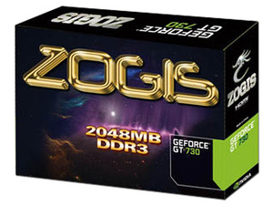 Tarjeta de Video ZOGIS NVIDIA GeForce GT 730, 2 GB DDR3, HDMI, DVI, PCI Express x16 2.0.