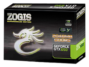Tarjeta de Video ZOGIS NVIDIA GeForce GTX 650, 2 GB DDR5, Mini HDMI, DVI, PCI Express x16 3.0.