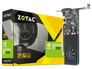 Tarjeta de Video NVIDIA GeForce GT 1030 ZOTAC, 2GB GDDR5, 1xHDMI, 1xDVI, PCI Express 3.0.