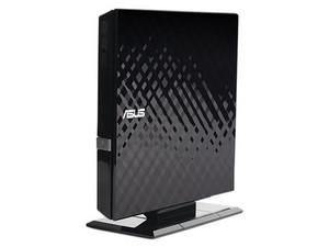 Quemador Externo Asus de DVD a 8x y CD a 24x, USB 2.0. Color Negro.