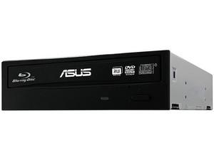 Quemador de Blu-ray, DVD y CD ASUS, SATA: BD-R 14X, BD-RE 2X, DVD 16X, DVD+R DL: 8X, DVD-R DL: 8X, CD-R: 40X, CD-RW: 24X.