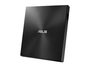 Quemador Externo Asus de DVD a 8x y CD a 24x, USB 2.0. Ultra Slim. Color Negro.