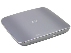 Quemador Slim Externo de Blu-ray, DVD y CD LG BP40, reproduce Blu-ray 3D, USB 2.0