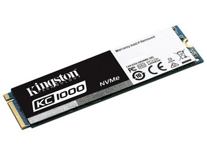 Unidad de Estado Sólido Kingston KC1000 de 240 GB, PCI Express x4.
