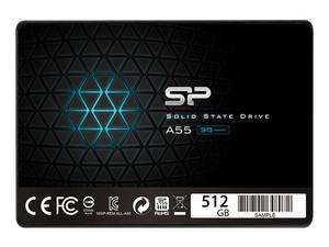 """Unidad de Estado Sólido Silicon Power A55 de 512 GB, 2.5\"""" SATA III (6Gb/s)."""