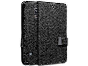 Funda tipo folio Cellairis Gazette para Samsung Galaxy Note 4, Color Negro.