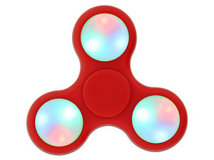 Fidget Spinner con Led. Color Rojo.