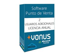 Dos Usuarios adicional Vonus Software Punto de Venta en la nube (1 año).