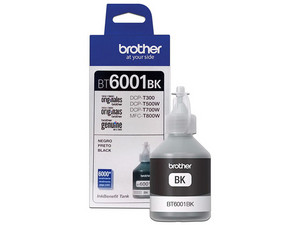 Botella de Tinta Brother, color Negro, Modelo: BT-6001BK, Alto Rendimiento.