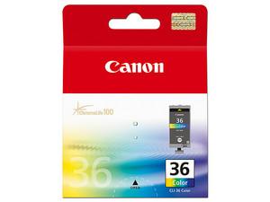 Cartucho de tinta Canon CLI-36, Color, Modelo: 1511B020AA.