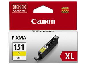 Cartucho de tinta Canon, Amarillo, Modelo: CLI-151XL.