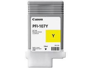 Cartucho de Tinta Canon Amarillo, 130ml, Modelo: PFI-107Y.