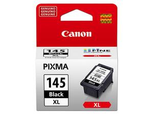 Cartucho de Tinta Canon Negro, Modelo: PG-145XL, Alto rendimiento hasta 300 páginas.
