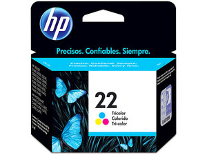 Cartucho de tinta HP 22 Tricolor Original (C9352AL).