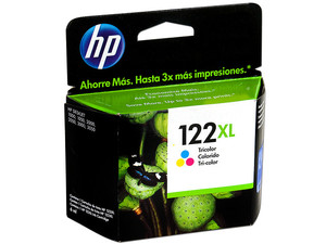 Cartucho de tinta HP 122XL Tricolor Original (CH564HL).