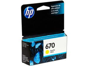 Cartucho de tinta HP 670 Amarillo Original (CZ116AL).