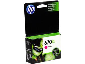 Cartucho de tinta HP 670XL Magenta Original (CZ119AL).