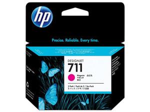 Pack de ahorro de 3 cartuchos de tinta HP 711, Magenta, Modelo: CZ135A.