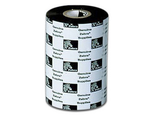 Rollo de Cinta Zebra 2000 Wax, 102 mm, 450 mts. Color Negro.