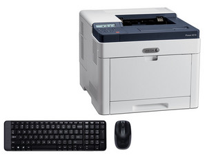 Impresora A Color Xerox Phaser 6510_DNI, Hasta 30 ppm, 1200 x 2400 ppp, Ethernet, USB 3.0 Incluye Teclado / Mouse Logitech MK220.