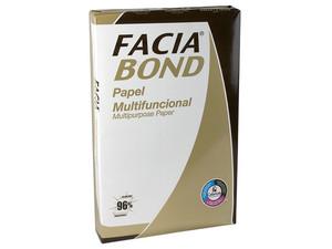 Facia Bond Papel Multifuncional tamaño Doble Carta, Blancura de 96%. Caja con 5 paquetes de 500 hojas