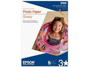"Papel Epson Photo Glossy, Carta, 20 Hojas, 11\""X17\""B."