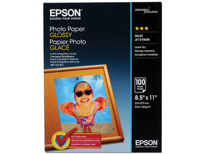Papel Epson Fotográfico Satinado S041271, Carta, 100 Hojas.