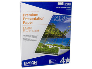 Papel EPSON, matte doble cara, 50 hojas, tamaño carta