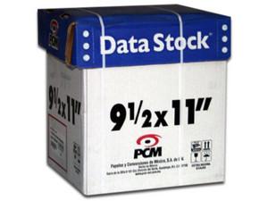 Caja de 2 Tantos de 1,500 hojas de papel Stock PCM, Modelo: DS00121500B.