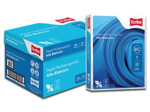 Papel Bond Scribe Multipurpose Azul tamaño Carta, Blancura de 97 %. Caja con 10 paquetes de 500 hojas c//u.