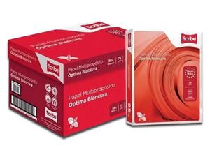 Scribe Rojo Papel Bond tamaño Oficio, Blancura de 95%. Caja con 10 paquetes de 500 hojas