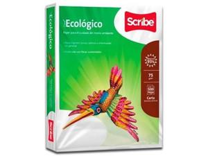 Papel Ecológico Scribe tamaño Carta, Blancura 93%, 75gr.
