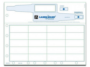 """Cartucho de pulsera de identificación Zebra LaserBand 2 Advanced de 8.5\"""" x 11\"""". Color Blanco."""
