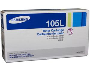 Cartucho de Tóner Samsung 105L Negro, Modelo: MLT-D105L para 2,500 páginas