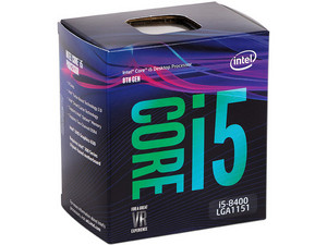 Procesador Intel Core i5-8400 de Octava Generación, 2.8 GHz (hasta 4.0 GHz) con Intel UHD Graphics 630, Socket 1151, Caché 9 MB, Six-Core, 14nm.