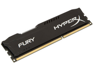 Memoria Kingston HyperX Fury DDR3 de 1866 MHz, CL10, 4 GB. Color Negro