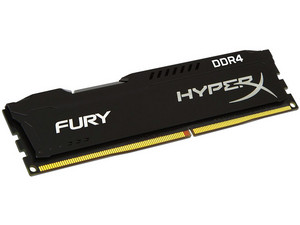 Memoria Kingston HyperX Fury Black DDR4, PC4-21300 (2666MHz) CL15, 4 GB.