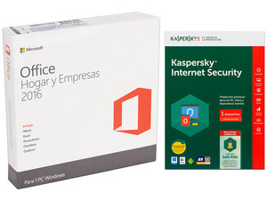Microsoft Office Hogar y Empresas 2016, 1 PC. (32/64 Bits), Incluye Kaspersky Internet Security 2017, incluye Safe Kids, 1 Dispositivo, 1 Año.