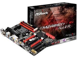 T. Madre FM2A88X+ KILLER, ChipSet AMD A88X, Soporta: AMD A10/ A8/ A6/ A4/ AthlonX4 de Socket FM2+, Memoria: DDR3 2600(O.C.)/2133/1866/1600/1333 MHz, 64GB Max, Integrado: Audio HD, Red, USB 3.0 y SATA 3.0, ATX, Ptos: 2xPCIE 3.0 x16, 3xPCI.