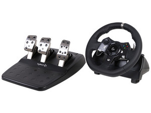 Volante Logitech G920 Driving Force compatible con PC (USB), y Xbox One.