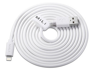 Cable MiLi Lightning a USB de 2m. Color Blanco.