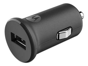 Cargador para auto Motorola Turbo Power 15, USB. Color Negro.