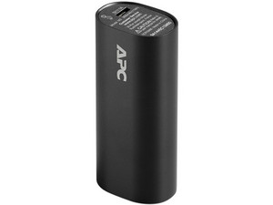 Batería Portátil recargable APC Power bank de 3,000 mAh. Color Negro.