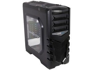 Gabinete Mid-tower GAME FACTOR CSG600 LED Azul, ATX, (sin fuente de poder)