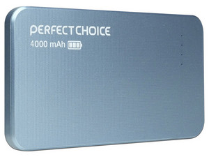 Batería Portátil recargable Perfect Choice de 4,000 mAh. Color Azul.