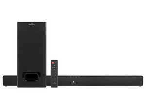 Barra de Sonido 2.1 Perfect Choice Arpegio PC-116578 con Subwoofer y Bluetooth.