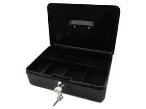 Cajón de dinero portátil grande Nextep NE-161, color negro.